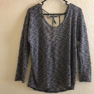 Long Sleeve Low Back Top
